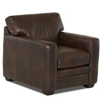 Wayfair Custom Upholstery Carleton Leather Chair & Reviews ...