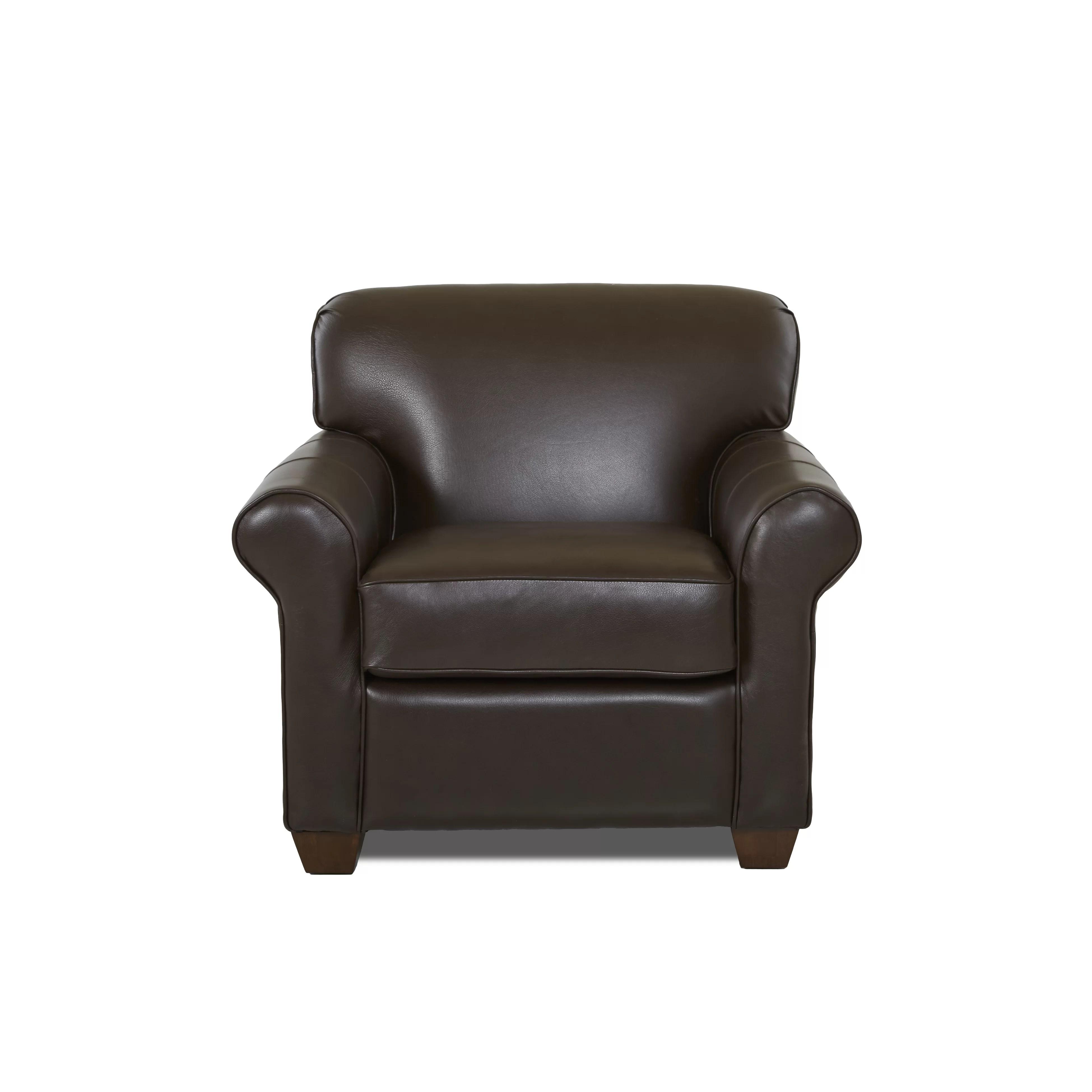 Wayfair Custom Upholstery Jennifer Leather Arm Chair