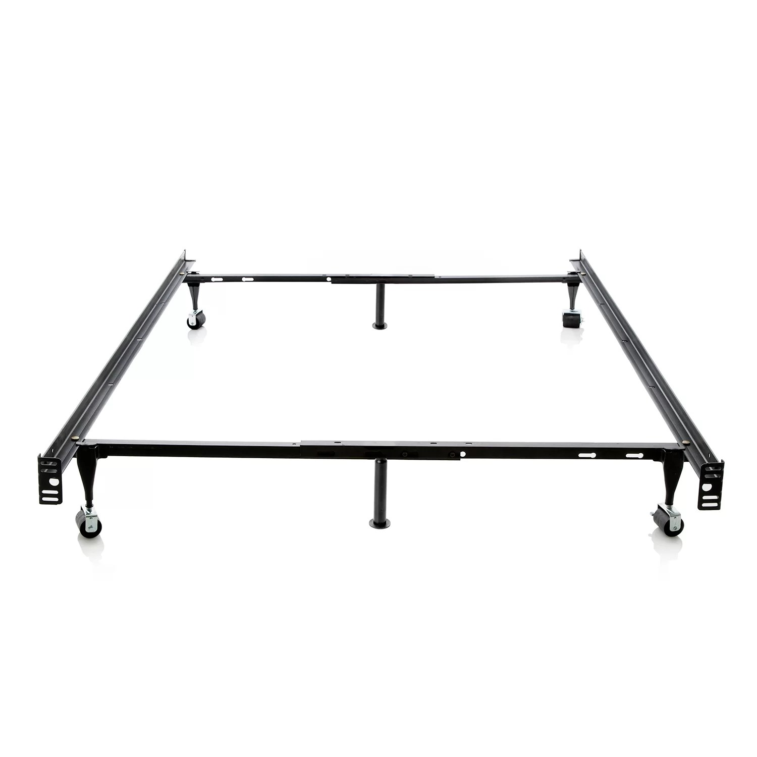 Malouf Heavy Duty 6 Leg Adjustable Metal Bed Frame With
