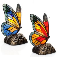 River of Goods Butterfly Tiffany Style Stained Glass Touch ...