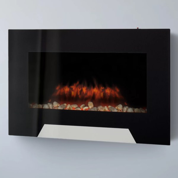 Corliving Wall Mount Electric Fireplace &
