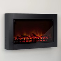 CorLiving Wall Mount Electric Fireplace | Wayfair