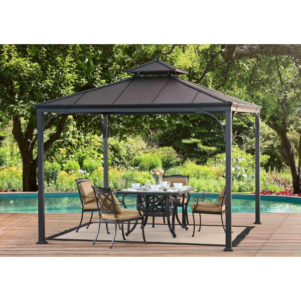 Sunjoy 10 Ft. X Metal Permanent Gazebo