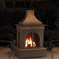 Sunjoy Hardy Slate and Steel Outdoor Fireplace & Reviews ...