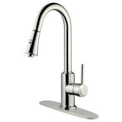 Pull Down Kitchen Faucet Reviews Cabints Lesscare Single Handle And