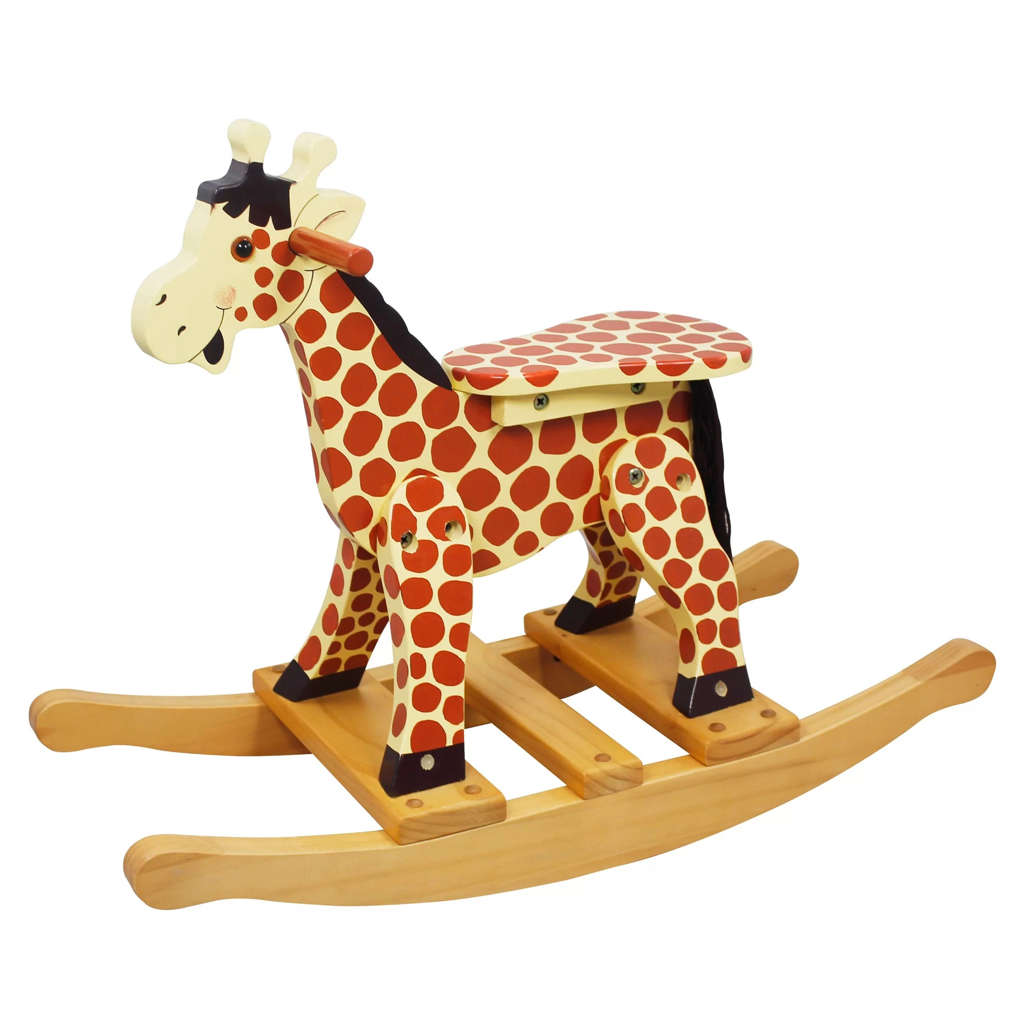 Giraffe Rocking Chair Fantasy Fields Safari Giraffe Rocking Horse And Reviews
