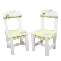 Fantasy Fields Alphabet Kids 3 Piece Table and Chair Set ...