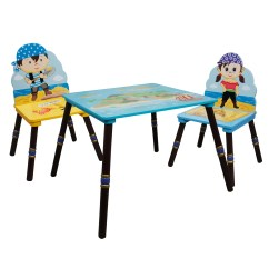 Kids Chair Set Rolling Desk Fantasy Fields 3 Piece Rectangle Table