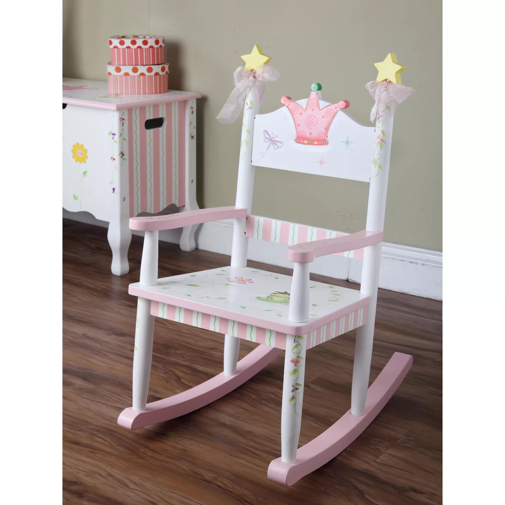 Girls Rocking Chair Fantasy Fields Princess And Frog Kids Rocking Chair