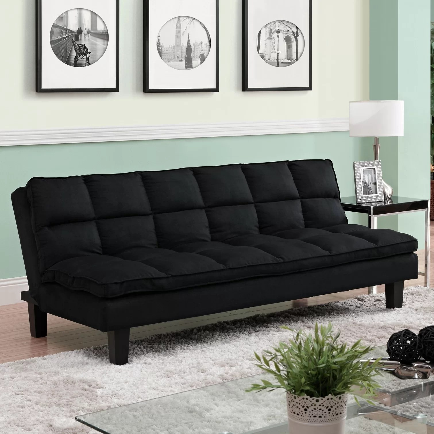 dhp allegra pillow top futon sofa bed how to build frame zipcode design carissa and mattress