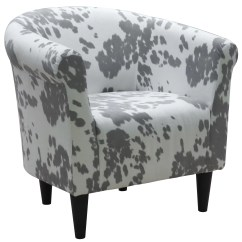 Cowhide Print Accent Chair Armless Office Chairs Without Wheels Zipcode Design Liam Barrel And Reviews Wayfair