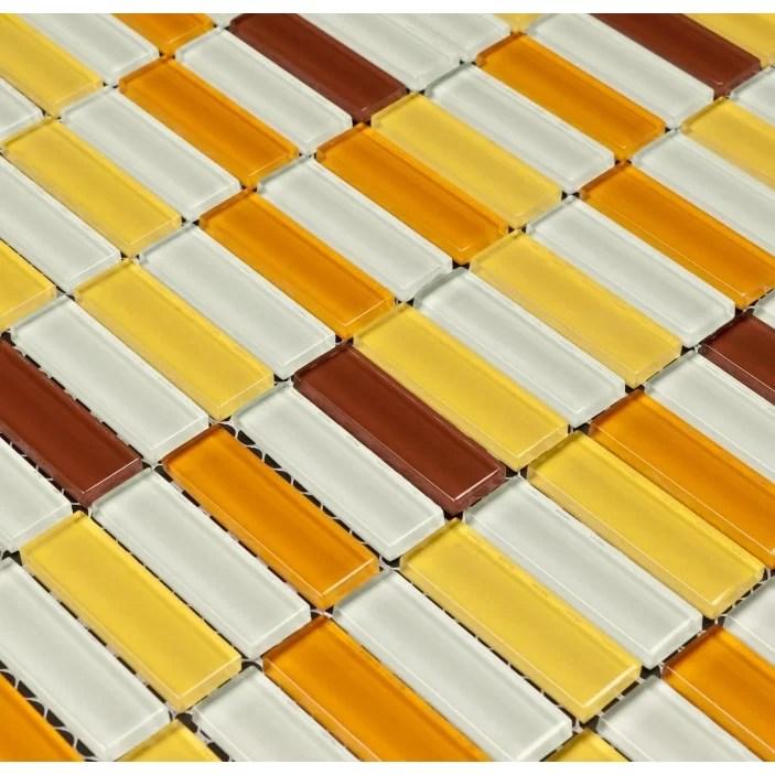 Martini Mosaic Aria Glass Mosaic Tile in Caribbean