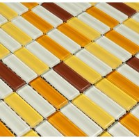 Martini Mosaic Aria Glass Mosaic Tile in Caribbean