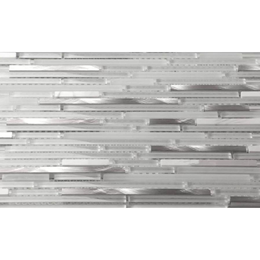 Martini Mosaic Riga Random Sized Stone/Glass/Metal Mosaic