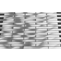 "Martini Mosaic Fascia 0.62"" x 3.87"" Stainless Steel Mosaic"