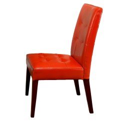 Orange Parsons Chair Extra Large Lounge Home Loft Concepts Talib Tufted Leather Dining