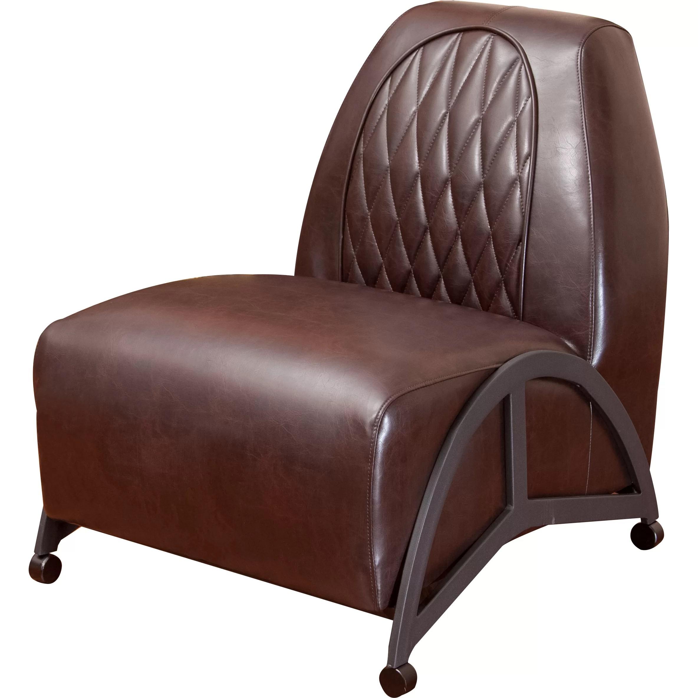 leather slipper chair chocolate allsteel acuity home loft concepts dysert and reviews