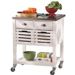 Kitchen Cart Stainless Steel Towels Bulk Andover Mills With Top