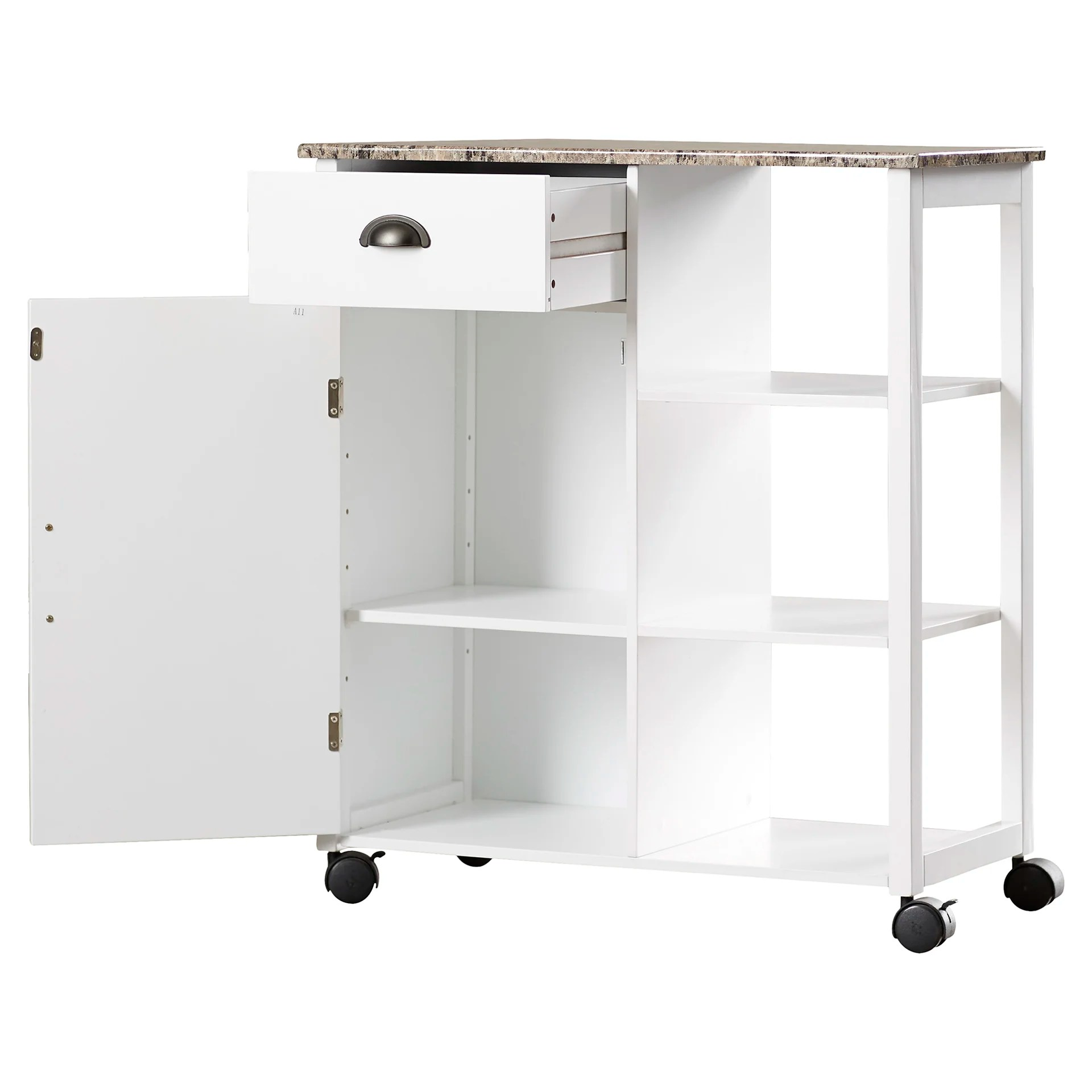 marble top kitchen cart exhaust hood cleaning certification andover mills irma with and reviews