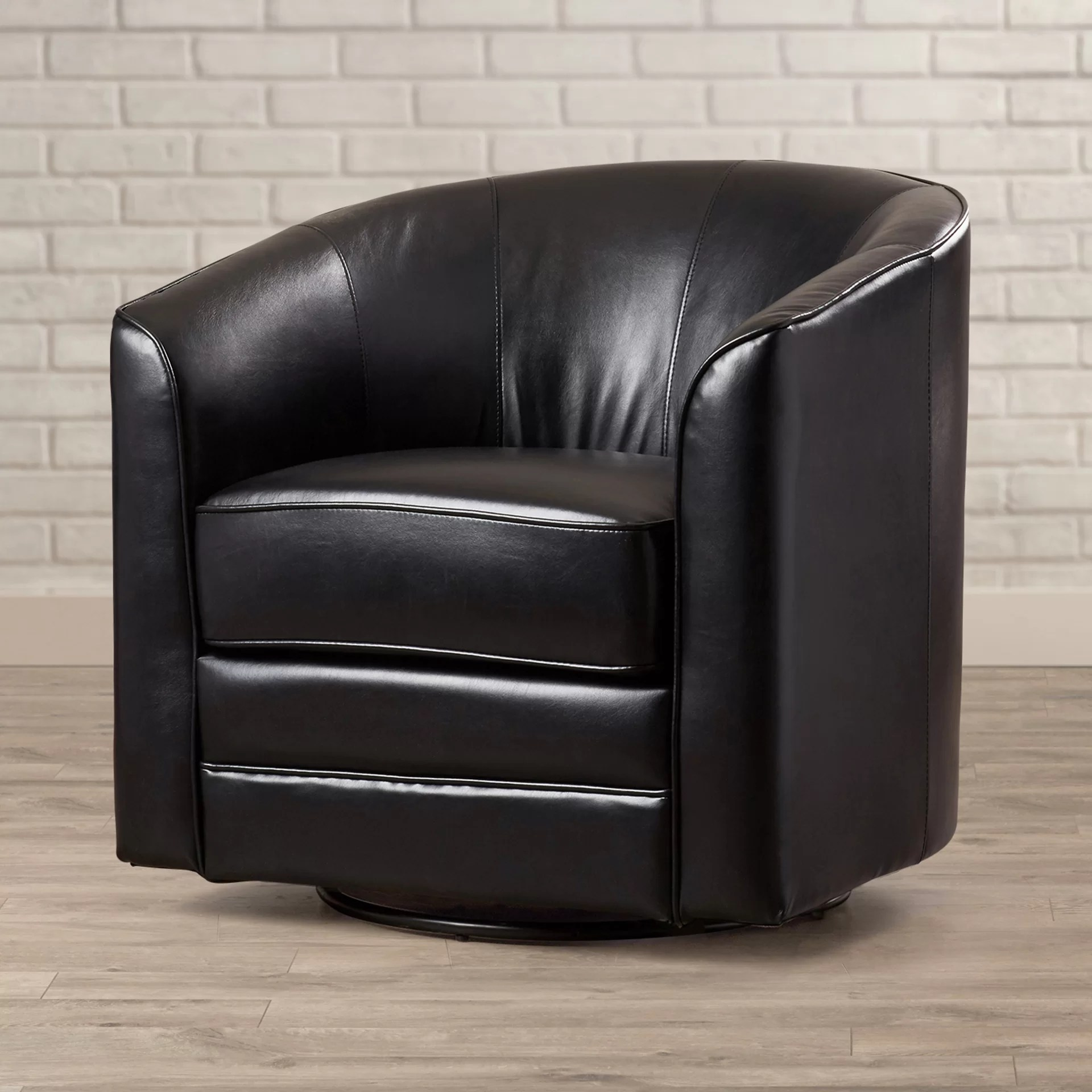 Swivel Barrel Chair Andover Mills Wells Swivel Barrel Chair And Reviews Wayfair