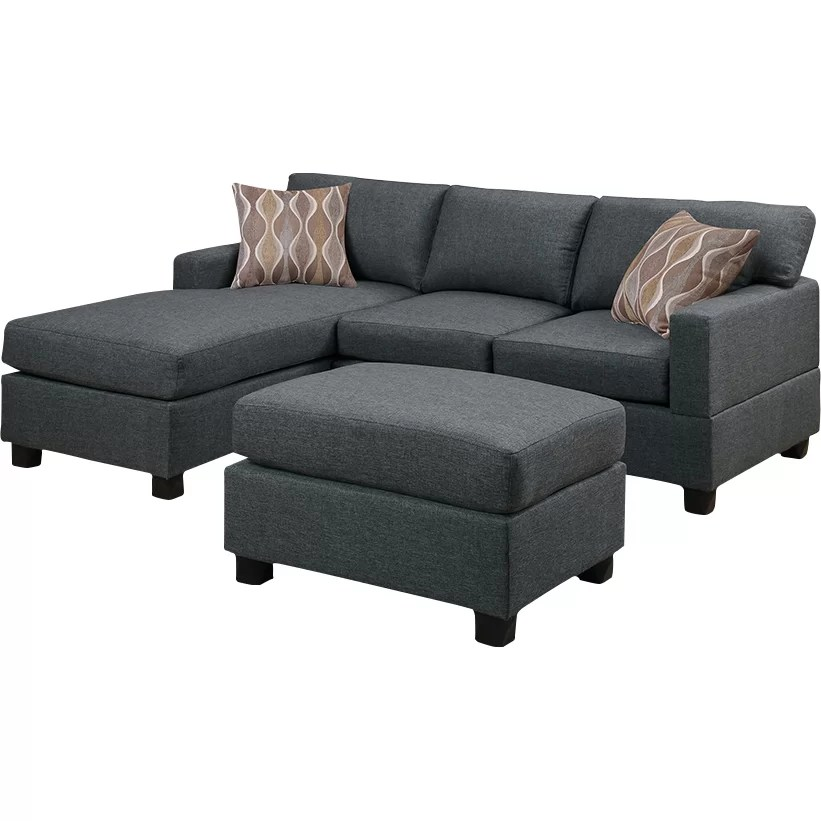 Andover Mills Birchview Reversible Chaise Sectional Sofa