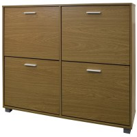 dCor design Extra Large 24 Pair Shoe Storage Cabinet ...