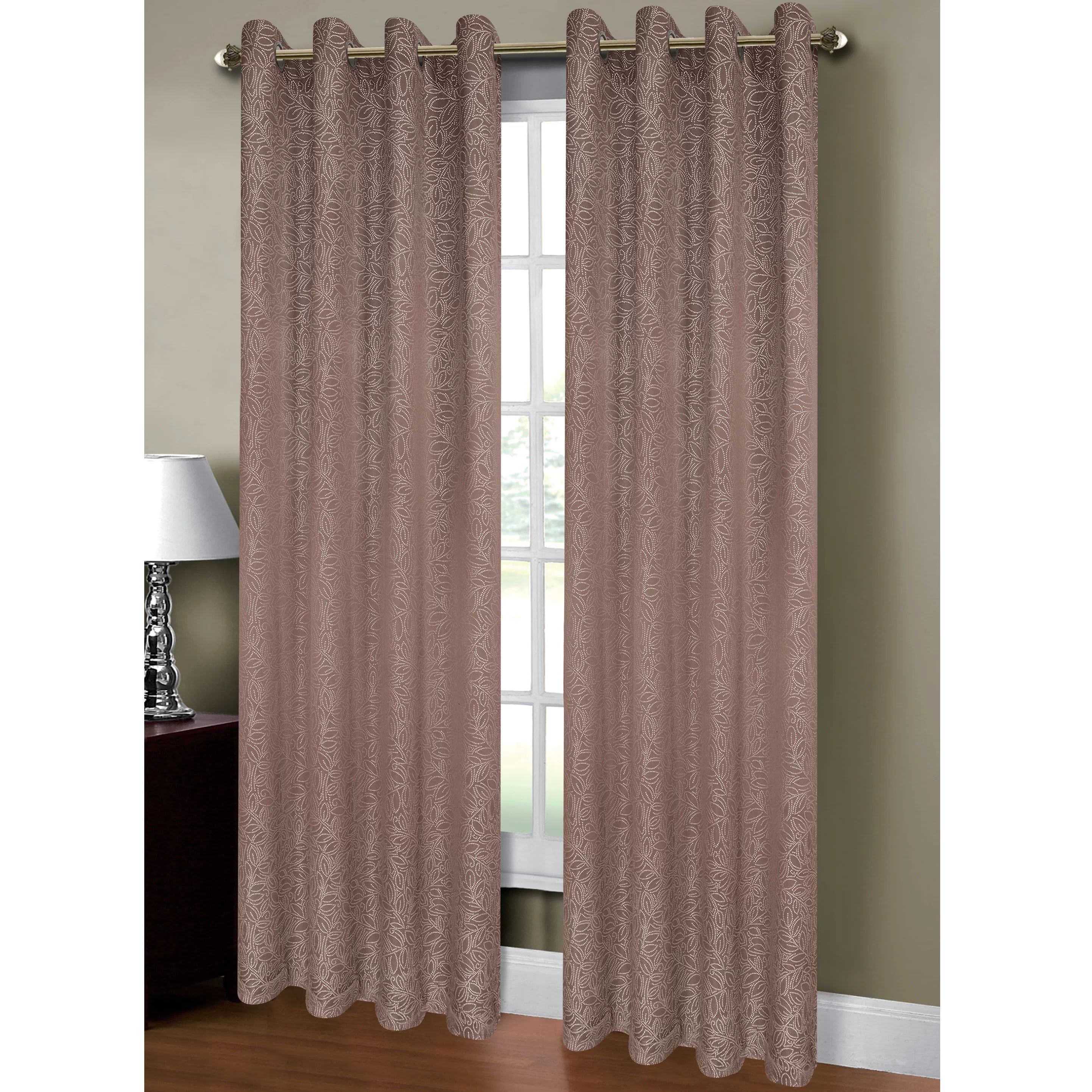 Window Elements Leila Jacquard Extra Wide Grommet Curtain Panels  Reviews  Wayfair