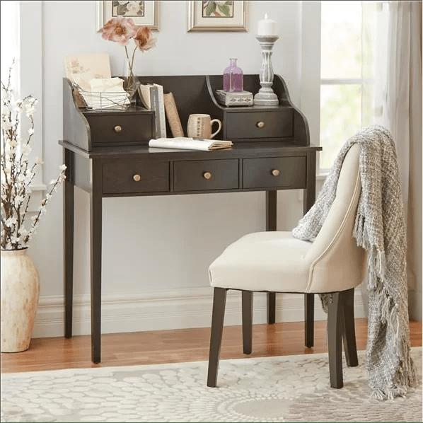 Three Posts Hadfield Secretary Desk  Reviews  Wayfair