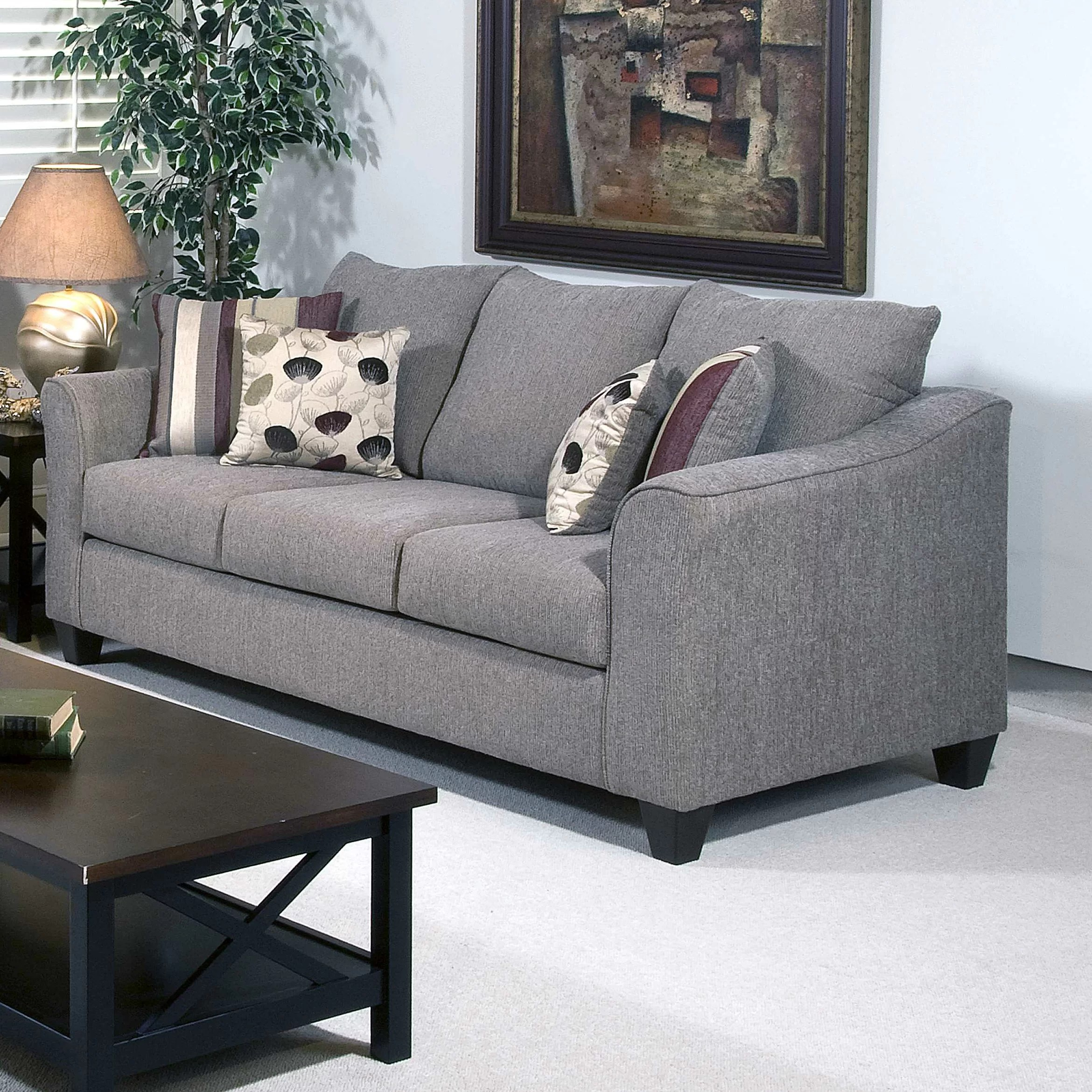 Three Posts Serta Upholstery Oppenheim Sofa  Reviews  Wayfair