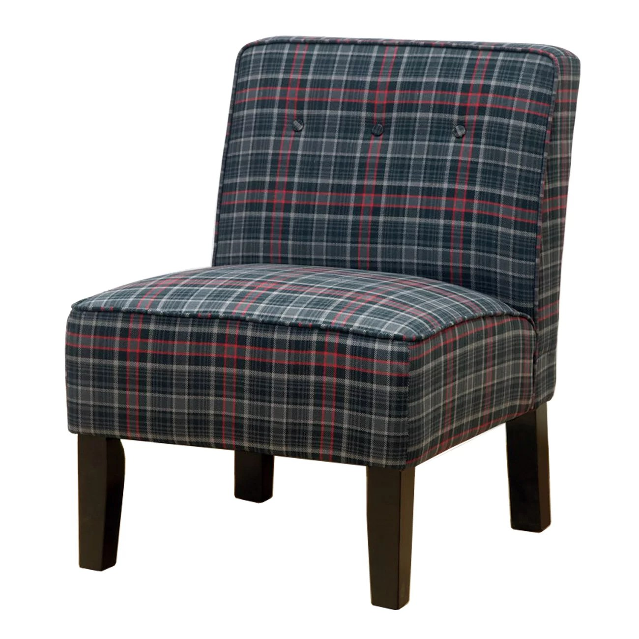 Three Posts Laurens Slipper Chair in Neo Plaid  Reviews
