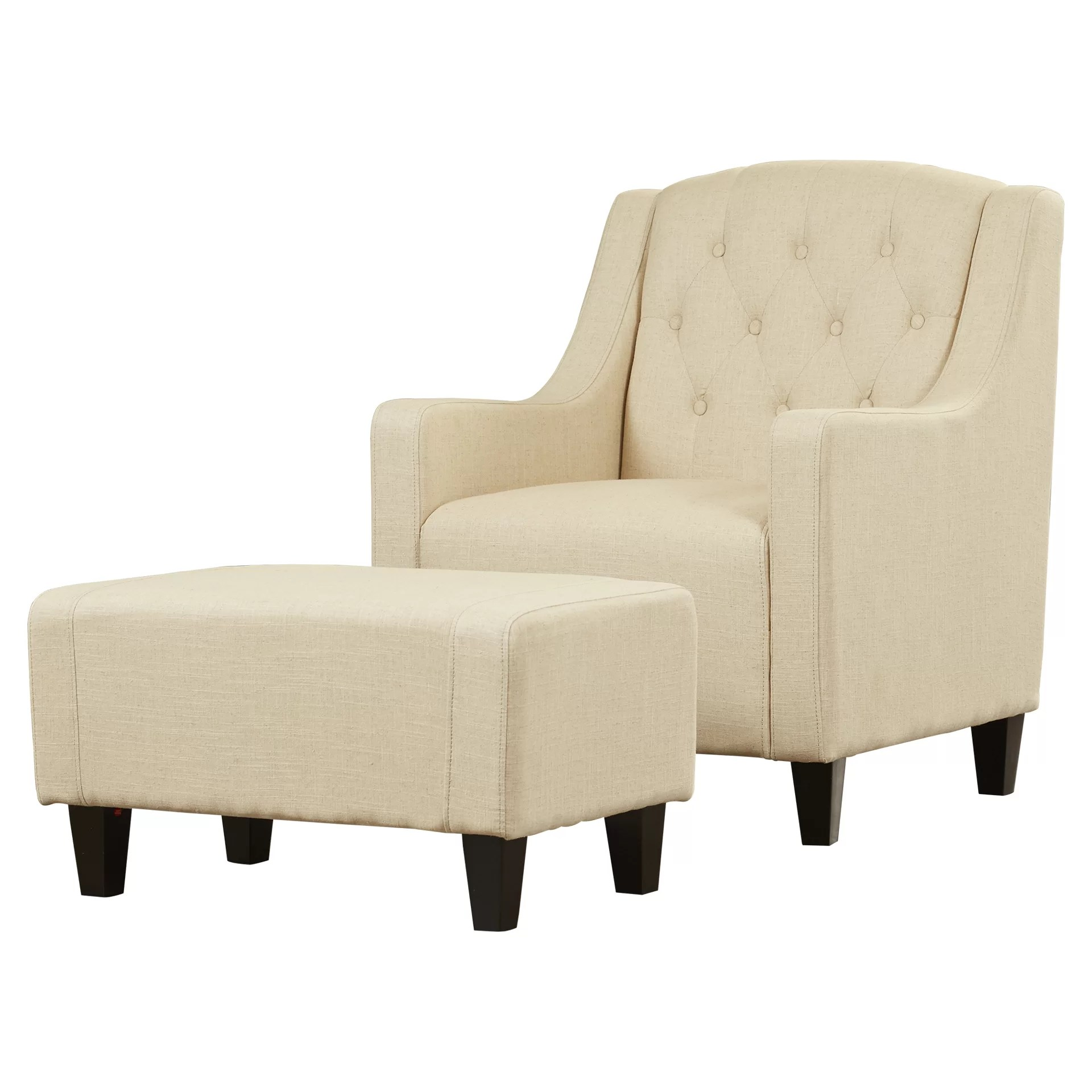 Chairs With Ottomans Three Posts Simpson Upholstered Club Arm Chair With