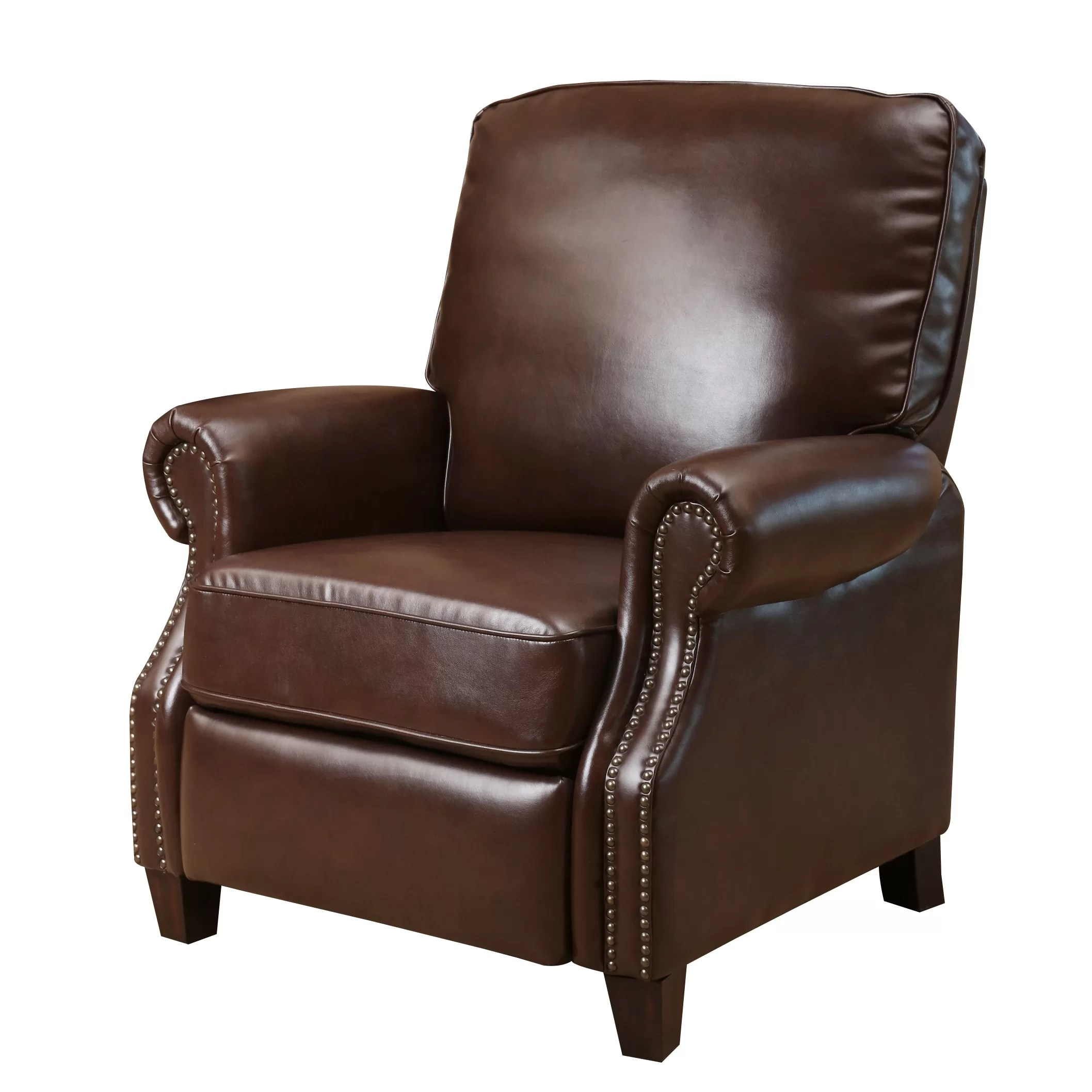 push back chair distressed leather chairs three posts wheatland recliner and reviews