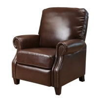 Three Posts Wheatland Push Back Leather Recliner & Reviews ...