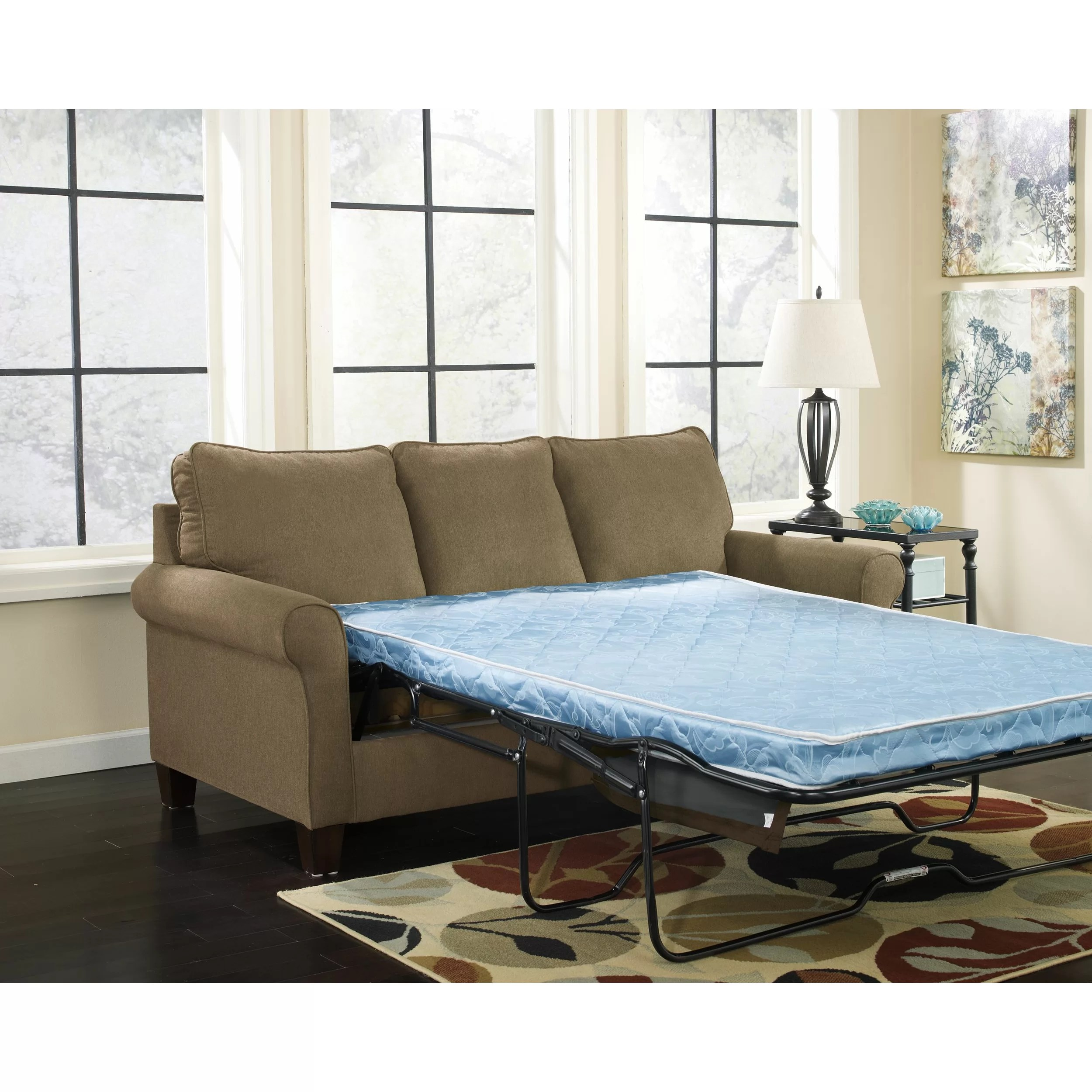queen sleeper sectional sofa reversible chaise three posts osceola and reviews wayfair