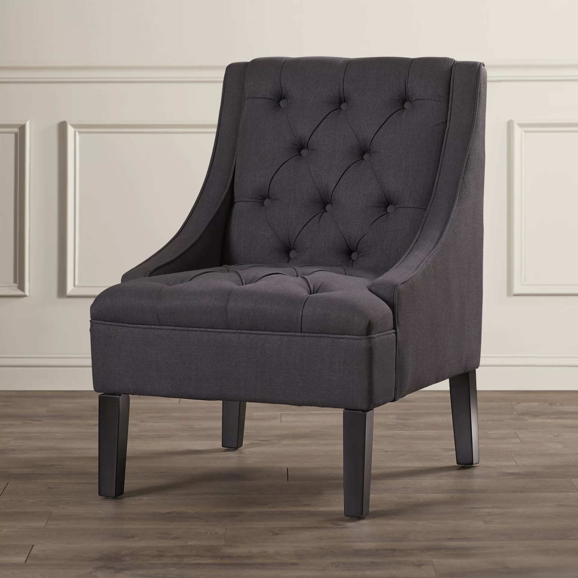 Upholstered Accent Chairs With Arms Three Posts Vienna Twilight Upholstered Arm Chair