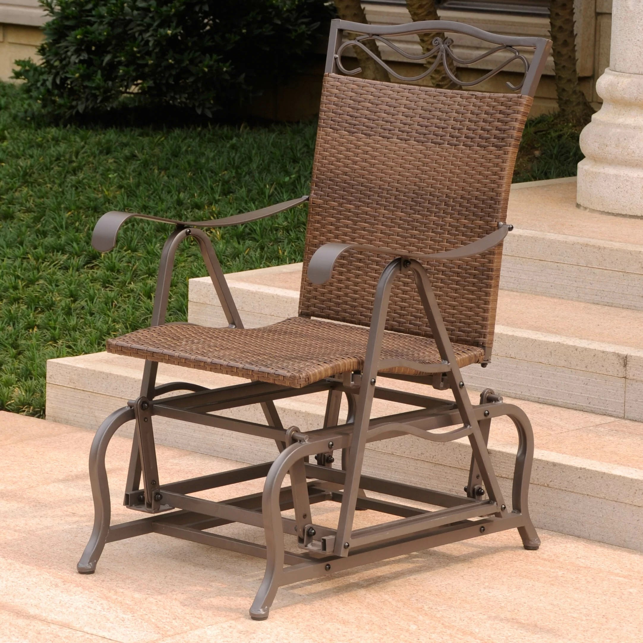 Glider Patio Chairs Three Posts Meetinghouse Patio Glider Chair And Reviews