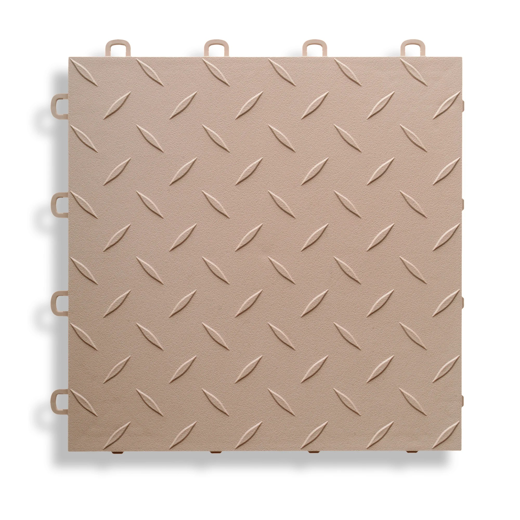 "BlockTile 12"" x 12"" Garage Flooring Tile in Beige"
