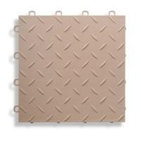"BlockTile 12"" x 12"" Garage Flooring Tile in Beige | Wayfair"