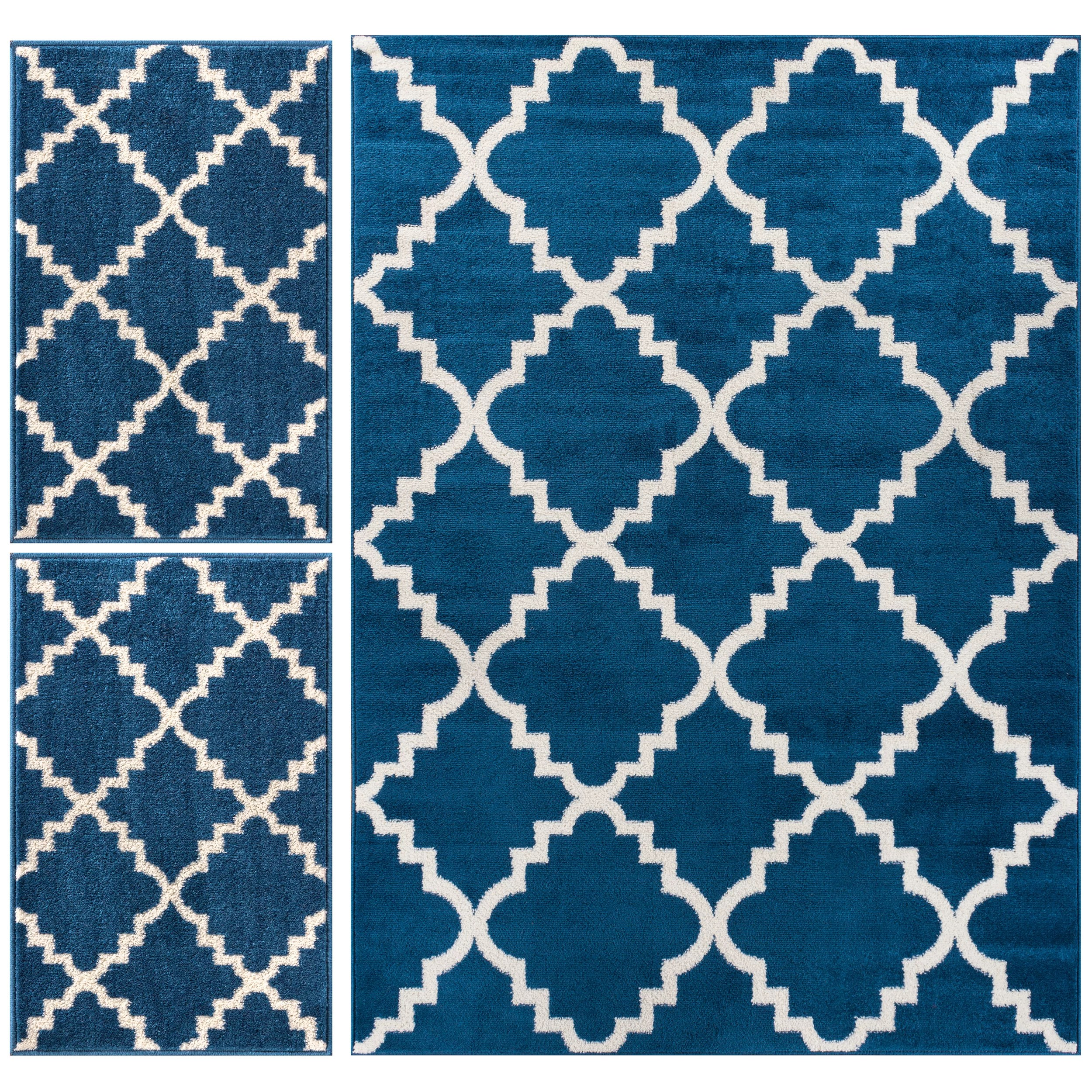 Well Woven Royal Court 3 Piece Blue Area Rug Set  Reviews
