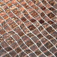 "Instant Mosaic 12"" x 12"" Glass Peel & Stick Mosaic Tile in ..."