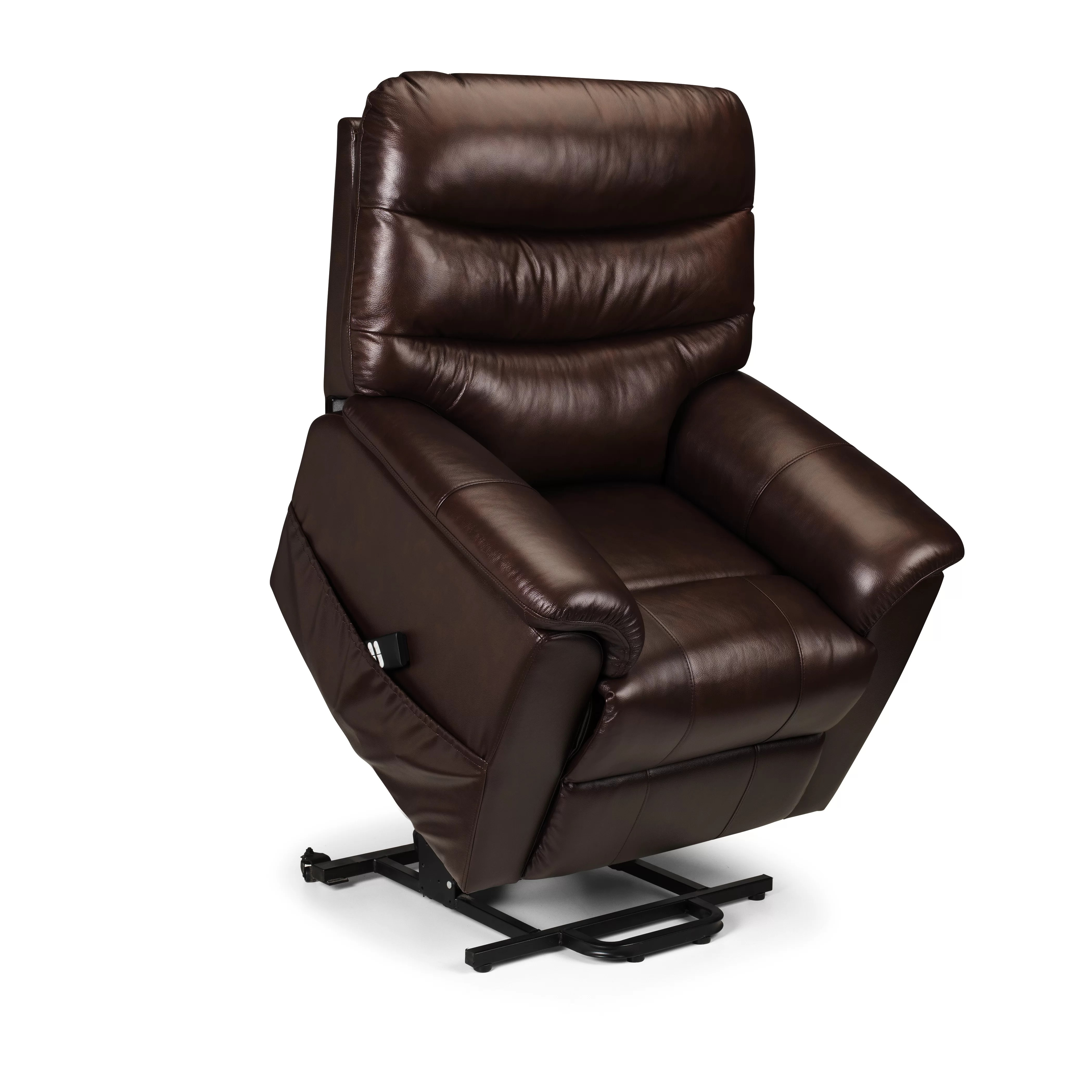 all leather recliner chairs best chair massager home aberdeen dual motor rise