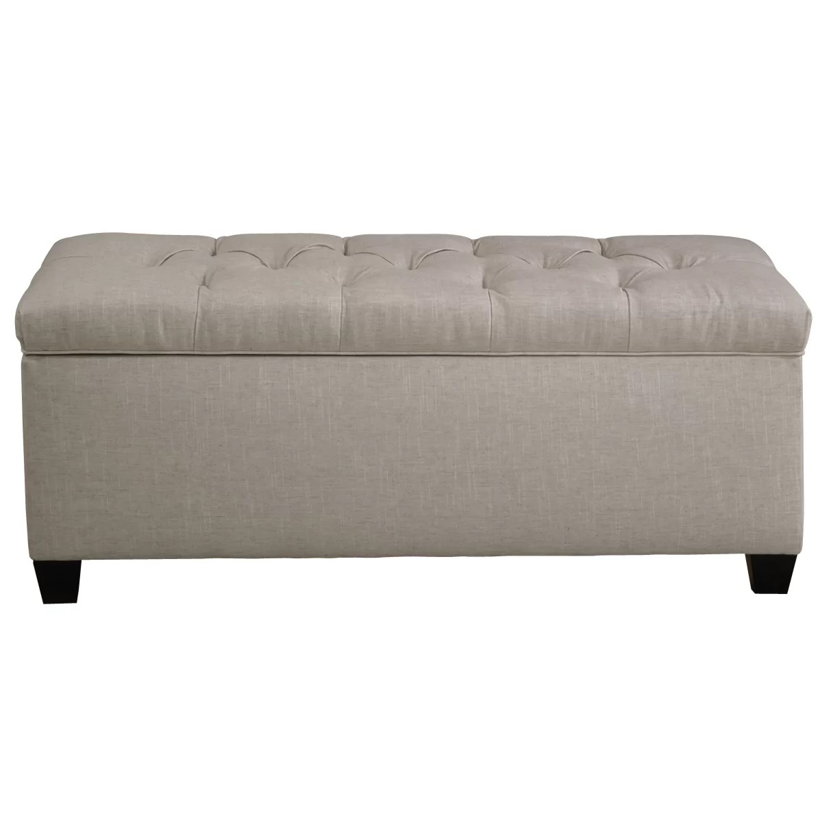 Alcott Hill Varian Upholstered Storage Bedroom Bench: Bedroom Bench With Storage