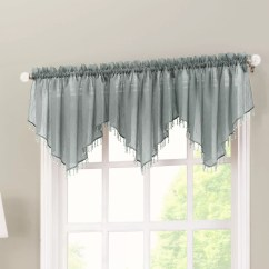 Valance Curtains For Kitchen Cart Stainless Steel No 918 Crushed Sheer Voile 51 Quot Curtain And Reviews