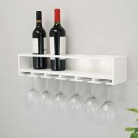 nexxt Design Wall Mount Claret Wine Bottle and Wine Glass ...