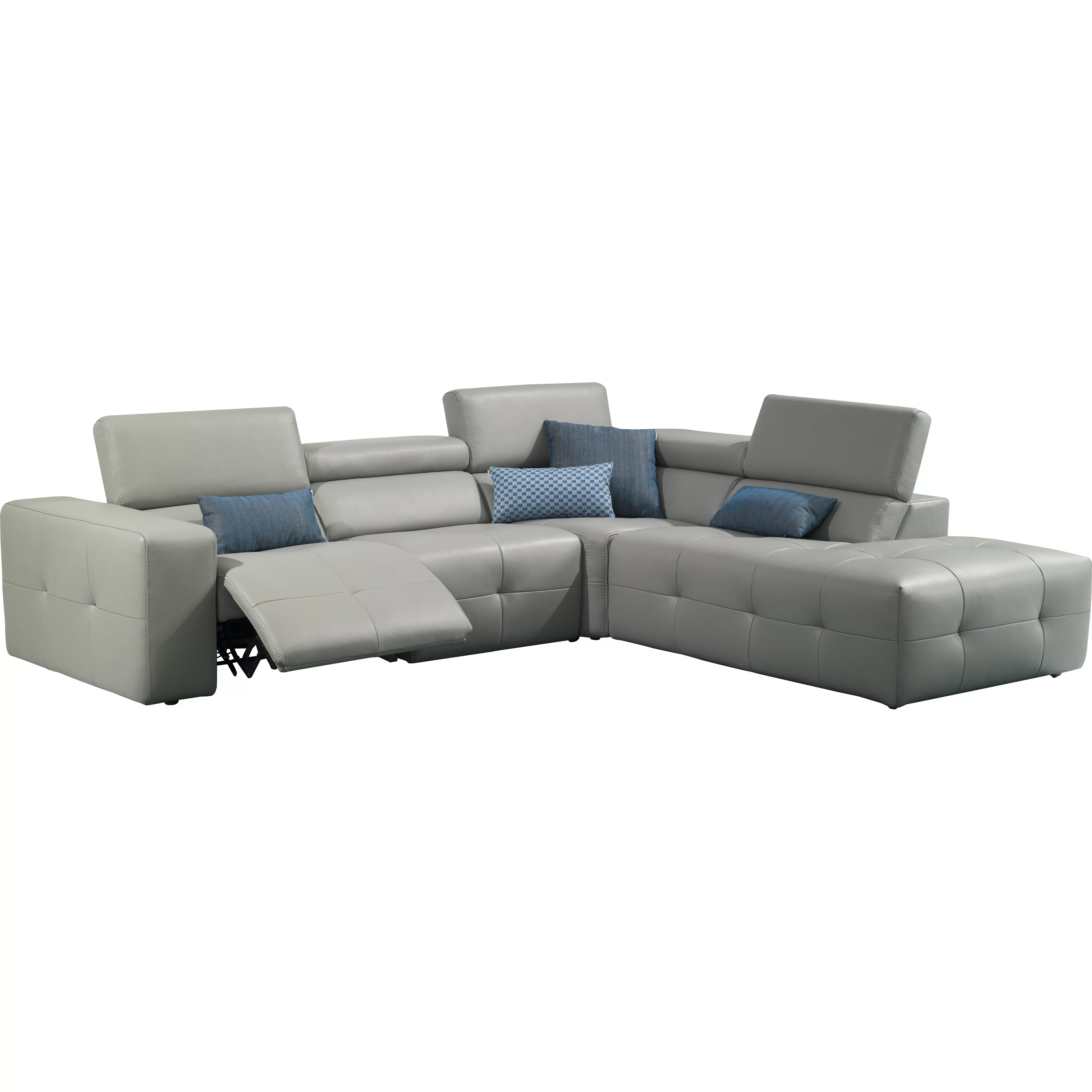 right arm facing sofa left chaise cushions for j andm furniture s300 premium leather sectional with