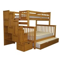 Bedz King Twin over Full Bunk Bed with Storage & Reviews ...