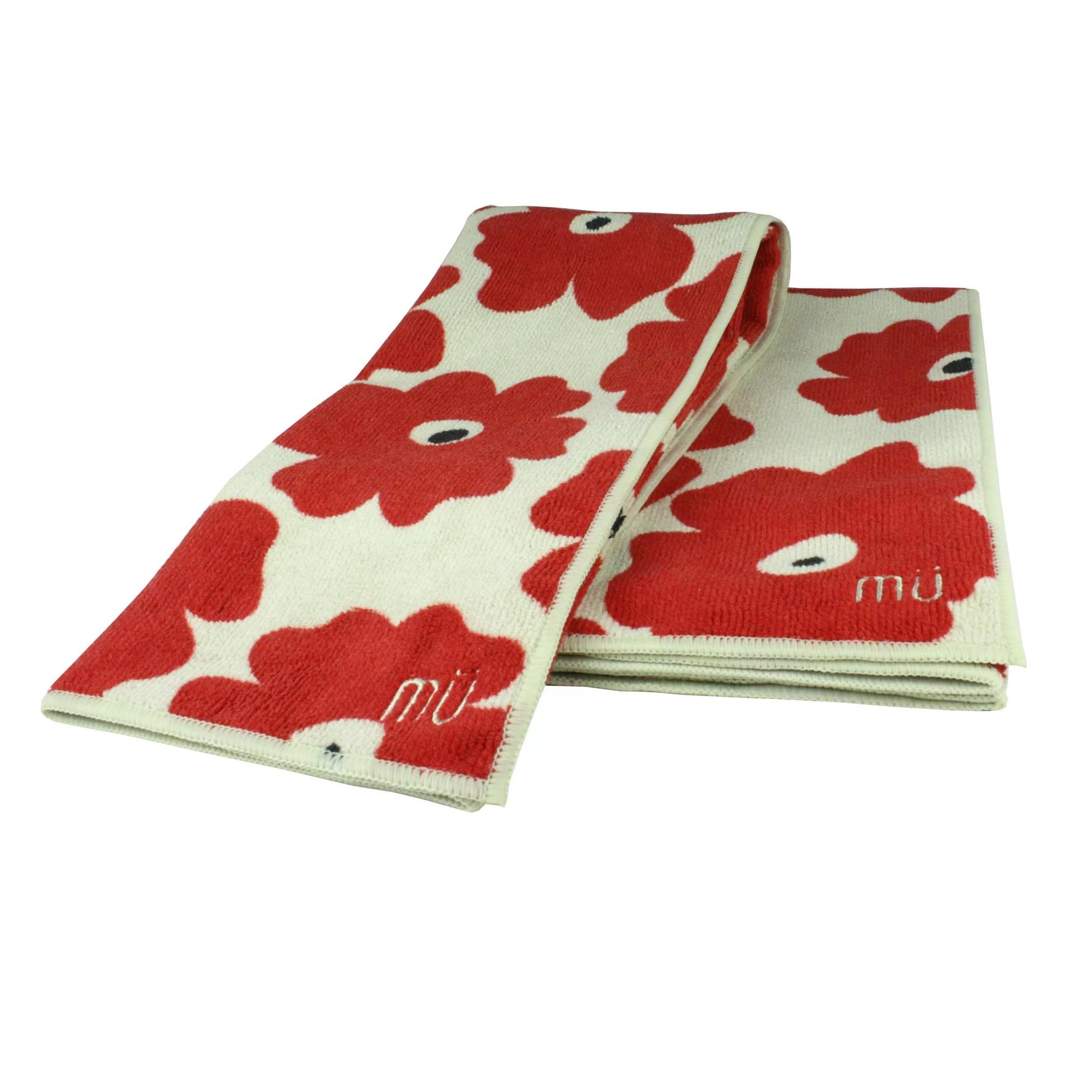MU Kitchen Poppy 2 Piece Dishcloth and Towel Set  Wayfair