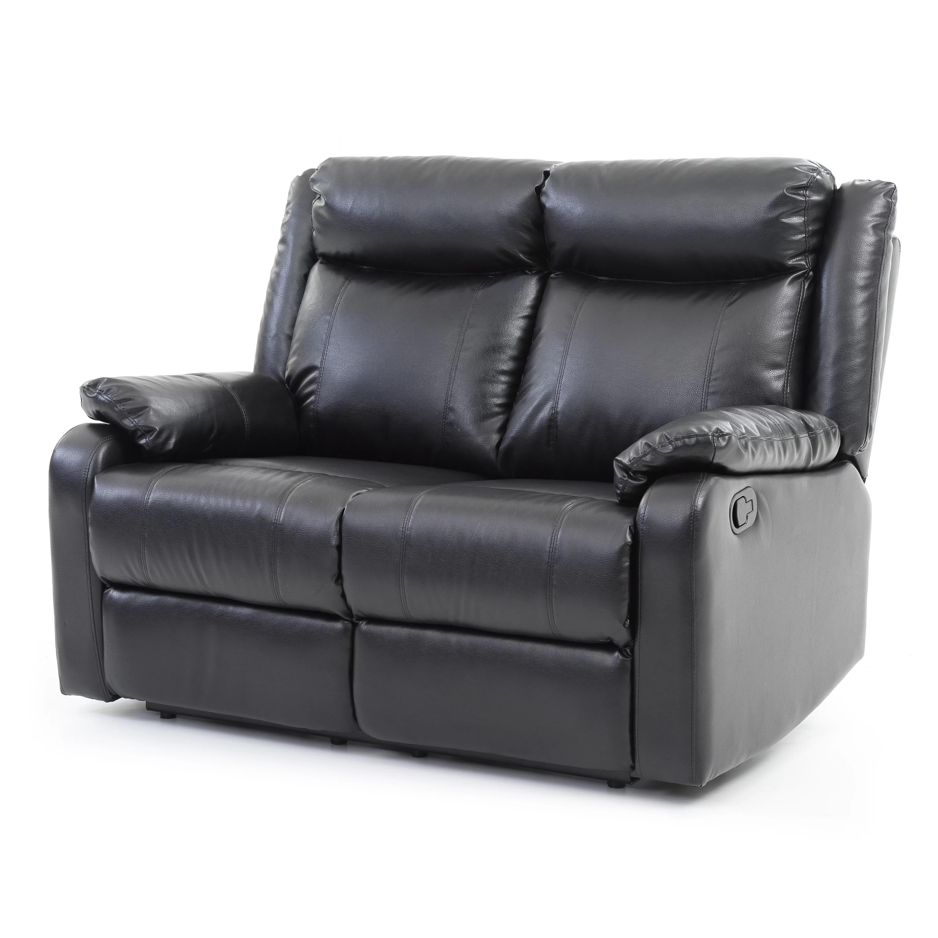 double reclining leather sofa small velvet glory furniture boston loveseat