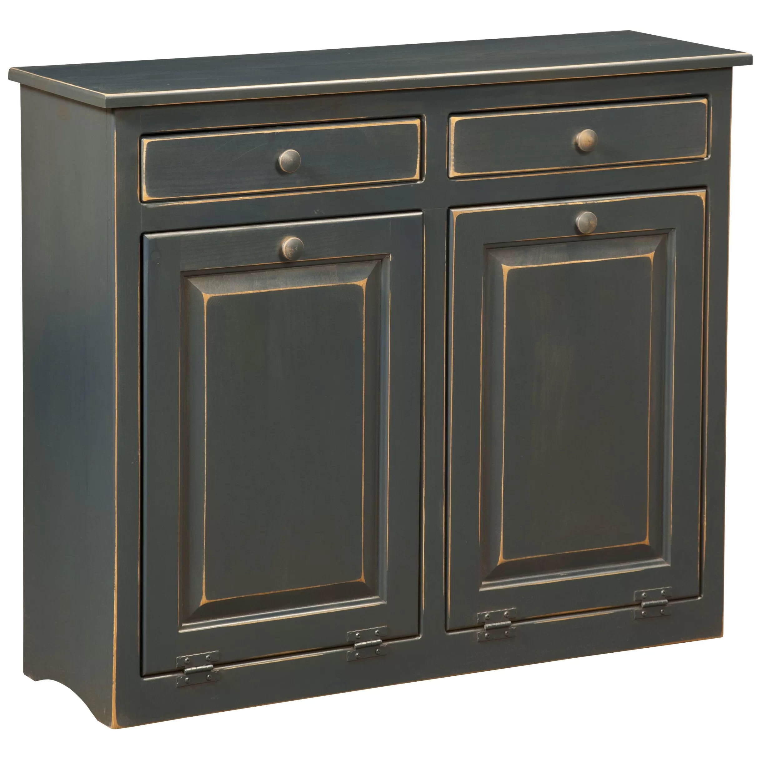 dCOR design Double Cabinet With Trash Bin  Wayfair