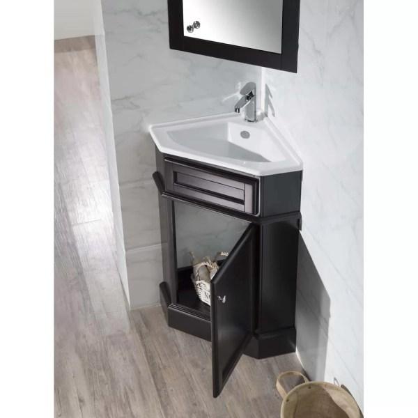 "Dcor Design Orson 26.5"" Single Corner Bathroom Vanity Set"